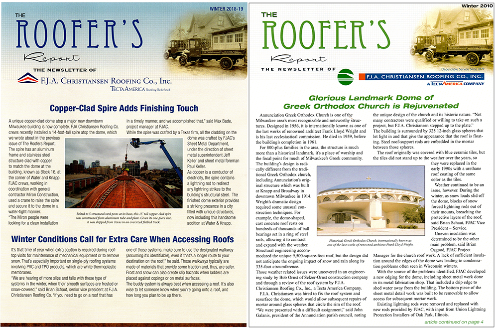 F.J.A. Christiansen Roofing<br>– Commercial Roofing Systems